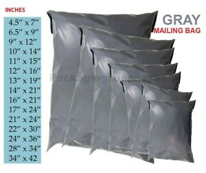 STRONG GREY POSTAL MAILING MIXED BAGS POLY POSTAGE MAILER PARCEL PACKING BAGS