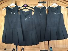 M/&S Grey Pinafore Dress x2 bundle School Uniform For Girls Age 6-7