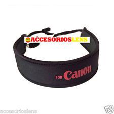 Correa ajustable de neopreno de cuello para camara EOS  negra logo rojo