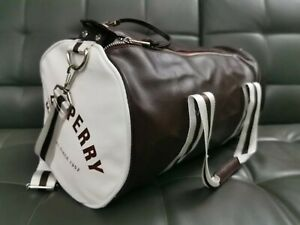 Fred Perry Classic Barrel Bag Burgundy/white Holdall Gym Bag