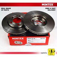 2X MINTEX DISC BRAKES FRONT SKODA FABIA I ii VW FOX POLO SPACEFOX / SPACE CROSS