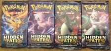 4 2019 Sealed Pokemon Sun & Moon Hidden Fates booster packs - all 4 arts