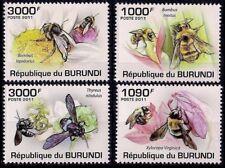 Burundi 2011 MNH 4v, Honey Bees, Insects