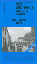 OLD ORDNANCE SURVEY MAP MID TYRONE, DONAGHMORE, POMEROY, SIX MILE CROSS 1900