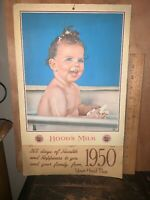H.P. Hoods Dairy Products 1950 Calendar, Baby Taking A Bath.