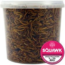 SQUAWK Dried Mealworms - Premium Quality Wild Bird Food Garden Snacks For Birds
