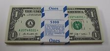 100 New Uncirculated 1 ONE Dollar Bills BEP Bundle Pack 2009 Boston Star Notes