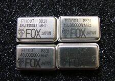 FOX F1100T-48.000000MHz Crystal Oscillator 48MHz 5V TTL, DIP-14, Qty.4