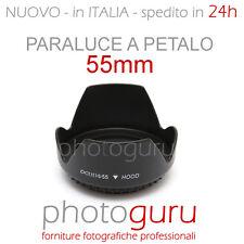 Paraluce a petalo 55mm universale per Canon Nikon Sigma Sony Tamron Pentax 55 mm