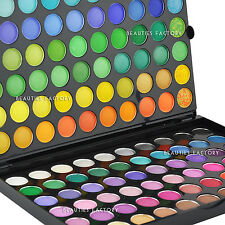 Pro 120 Colour Eye Shadow Makeup Palette <Essentials> + Free Luvvie Eye Brush 89
