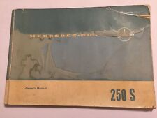 MERCEDES-BENZ 250S OWNERS USERS INSTRUCTION HANDBOOK MANUAL 1965 Ref: 1085840396