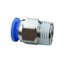 Pneumatic Push In Air Fitting Straight Male Connector 10 mm OD*3/8