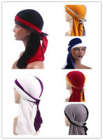 Men's Women Velvet Durags Bandana Turban Sports Hat Headwear Headband Pirate Hat