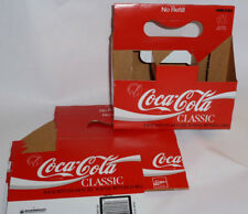 5 NEW VINTAGE 1986 COCA COLA CLASSIC CARRIERS! COKE CLASSIC! GREAT FOR STORAGE!