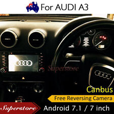 """7"""" Android 7.1  Audi A3 S3 Car DVD GPS Stereo Player Head Unit 2003-2014 wifi"""