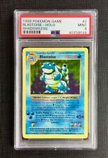 Pokemon PSA 9 Blastoise Holo Shadowless Base Set #2/102 Mint