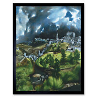 El Greco View Of Toledo Spain Expressive Painting Framed Wall Art Poster