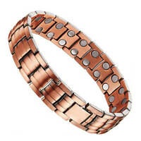 Gorgeous Pure Copper Magnetic Bracelet mens Arthritis Pain Relief Energy Stress