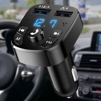 Bluetooth5.0 Transmetteur FM voiture mains libres sans fil Lecteur MP3 2 Kit LB