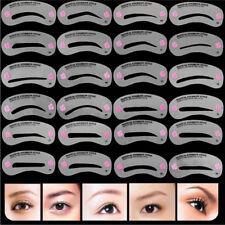 24Pcs Styles DIY Pochoirs à Sourcils Carte Maquillage Outils Beauté Réutilisable