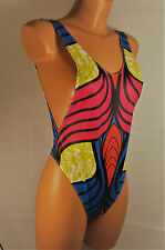 Sexy multi stretchy sliPpy thong leotard one-piece swimwear yoga body M/L R15355