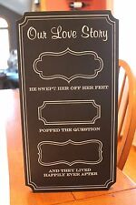 """""""Our Love Story"""" Wall Hanging Sign"""