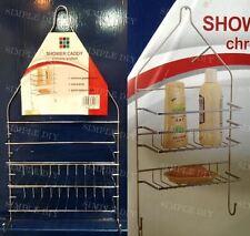 Shower Caddy Rack Bathroom Storage Holder Kitchen Accessories Towel Hook Chrome