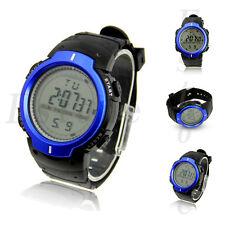 Fashion Men's Waterproof LCD Digital Stopwatch Date Rubber Sport Wrist Watch