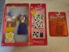 New Vintage Mattel Barbie Bashful Bunny Fashion Extras Grape Fruity Clothes Lot