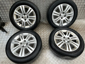 VAUXHALL ASTRA H 1.4 SXI SET OF ALLOY WHEELS WITH TYRES 205/55R16 4 STUD 16 INCH