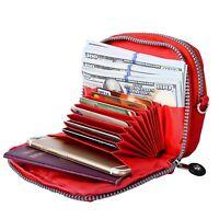 Women Wallet Multi Layers Card Slots Handbag Shopping Zip Purse With Hand Strip