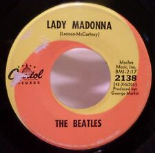 The Beatles . Lady Madonna b/w The Inner Light, 1968 Capitol Record 45 rpm VGVG+