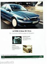 PUBLICITE ADVERTISING 116  2002   la  Jaguar  X-Type 2l V6 10 cv