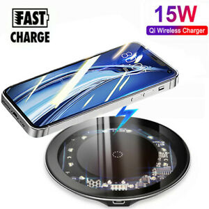 15W QI Fast Wireless Charger Fast Charging Pad For iPhone 12 Pro Max 12 Mini XS