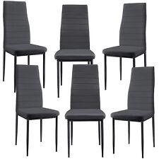 [en.casa]® Esszimmerstuhl grau 6er Set Wohnzimmer Esszimmer Küchenstuhl Stühle