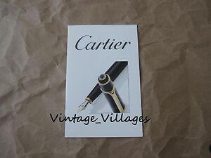 1998 Cartier Pen Booklet/Brochure (5 Pages)
