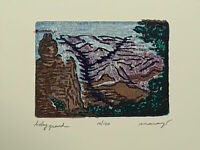 Baby Grand Canyon Pocket Art Original Color Woodcut