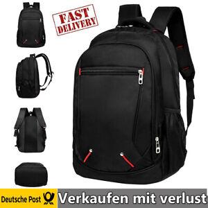 DE Bag Street Rucksack Sport Reisen Arbeit Freizeit Schulrucksack Herren Schwarz