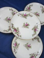 4 Vintage Butter Plates Rosenthal Germany Pompadour Moss Rose Moliere Ivory Dish