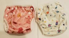Baby diapers Cloth Pocket Diapers Reusable Washable Nappies Cover sea theme. 2pk