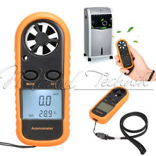 LCD Digitaler Windmesser Thermometer Anemometer Windgeschwindigkeit Meter GM816