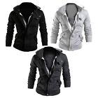 Fashion Men Warm Hooded Winter Thicken Coat Sweatshirt Outwear Jacket Overcoat