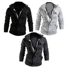 Men's Warm Hooded Sweatshirt Hoodie Coat Jacket Outwear Slim Top M-XXXL