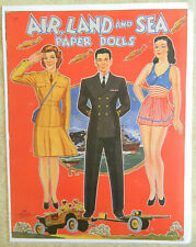 Repro Wwii era Saalfield Publishing Co. Air, Land, and Sea paper dolls outfits