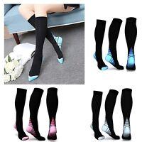 Compression Socks Sports Running Fitness Thin Hign 20-30 mmHG calf Men's Women's