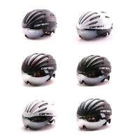 Bicycle Helmet MTB Road Bike Sport Cycling Black Helmet With Goggles Sun Visor
