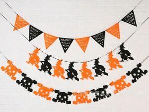 Happy Halloween Party Theme Felt cloth Garland  Bunting Banners AU