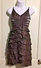 Adrianna Papell Occasions Women's Size 4 Chocolate Brown Cocktail Formal Dress