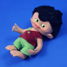 """1965 Unica ~ LARGE 8"""" MONKEY TROLL DOLL ~ Completely Original! Made in Belgium"""