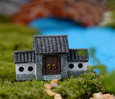 1pc Micro Landscape Resin Chinese Ancient City Gate House Fairy Garden Pot Craft